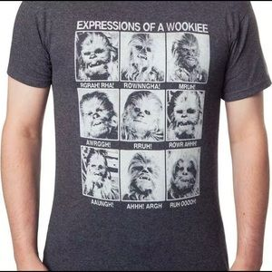 Star Wars Expressions of A Wookiee T-Shirt - M